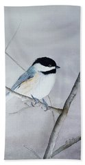 Chickadee II Hand Towel by Laurel Best