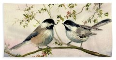 Chickadee Love Bath Towel by Melly Terpening