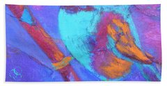 Bath Towel featuring the painting Chickadee by Nancy Jolley