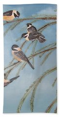 Chickadee Party Bath Towel by Thomas Janos