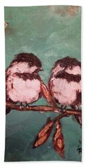 Chickadees Hand Towel