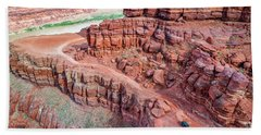 Chicken Corner Trail And Colorado River Hand Towel