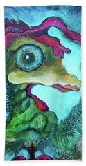 Chicken Dreamy Eyes Hand Towel