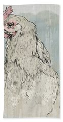 Chicken Portrait-farm Animals Hand Towel