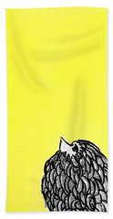 Bath Towel featuring the painting Chickens Four by Jason Tricktop Matthews