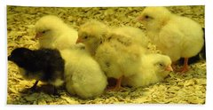 Chicks Hand Towel by Laurel Best