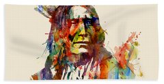 Chief Mojo Watercolor Hand Towel