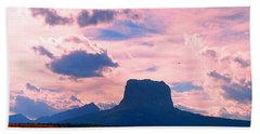 Chief Mountain, Pastel Bath Towel