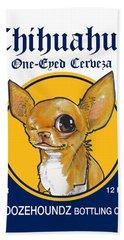 Chihuahua One-eyed Cerveza Bath Towel