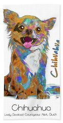 Chihuahua Pop Art Bath Towel