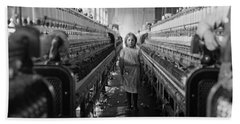Child Labor At Cotton Mill - Lewis Hine - 1908 Hand Towel