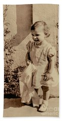 Bath Towel featuring the photograph Child Of 1940s by Linda Phelps