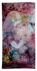 Bath Towel featuring the painting Childlike Faith by Deborah Nell