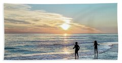 Children At Play On A Florida Beach  Bath Towel