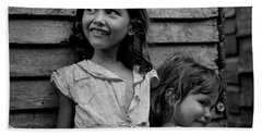 Children In Utuado., Daily Life In Puerto Rico, C. 1938-1942, By Jack Delano, Fsa Hand Towel