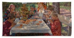 Children Hand Towel by Nikolay Petrovich-Belsky