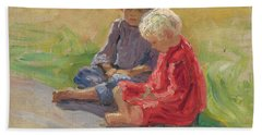 Children Playing Hand Towel by Nikolay Petrovich-Belsky