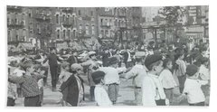 Children Taking Health Exercises In New York City,  Circa 1905 Hand Towel