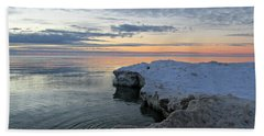 Chilly View Hand Towel by Greta Larson Photography