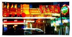 Chinatown Window Reflections 2 Bath Towel