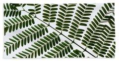 Chinese Albizia Leaf Pattern Hand Towel