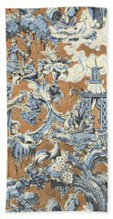 Chinese Chippendale Stripe Bath Towel