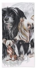 Chinese Crested And Powderpuff Medley Bath Towel