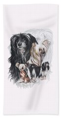 Chinese Crested And Powderpuff W/ghost Hand Towel