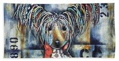 Chinese Crested Bath Towel by Patricia Lintner