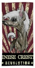 Chinese Crested Revolution Hand Towel