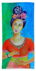 Chinese Dancer -- The Original -- Portrait Of Asian Woman Hand Towel
