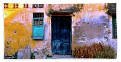 Chinese Facade Of Hoi An In Vietnam Bath Towel