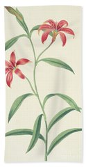 Chinese Lily Bath Towel