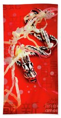 Chinese New Year Background Hand Towel