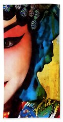 Chinese Opera Girl  Hand Towel