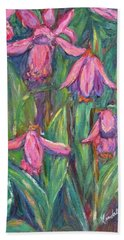 Hand Towel featuring the painting Chinese Orchids by Kendall Kessler