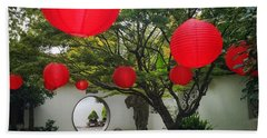 Chinese Tea Garden In Portland, Oregon Hand Towel