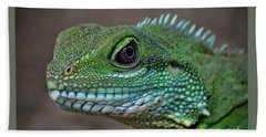 Bath Towel featuring the photograph Chinese Water Dragon by Savannah Gibbs