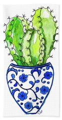 Chinoiserie Cactus No3 Hand Towel