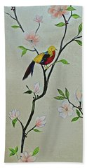 Chinoiserie - Magnolias And Birds #1 Hand Towel