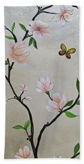Chinoiserie - Magnolias And Birds #3 Hand Towel