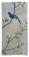 Chinoiserie - Magnolias And Birds #4 Hand Towel