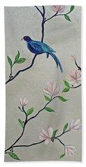Chinoiserie - Magnolias And Birds #4 Bath Towel