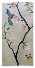 Chinoiserie - Magnolias And Birds #5 Bath Towel