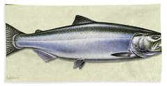 Chinook Salmon Id Bath Towel