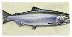 Chinook Salmon Id Bath Towel