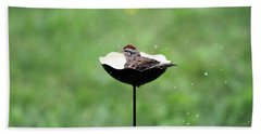 Chipping Sparrow Bath Hand Towel