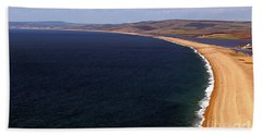 Hand Towel featuring the photograph Chesill Beach Dorset by Baggieoldboy