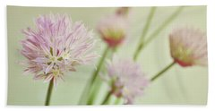 Hand Towel featuring the photograph Chives In Flower by Lyn Randle