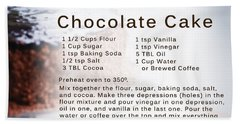 Chocolate Cake Recipe Hand Towel